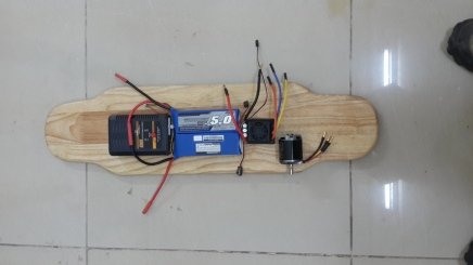 From left: Battery charger, Batteries, ESC and the motor.