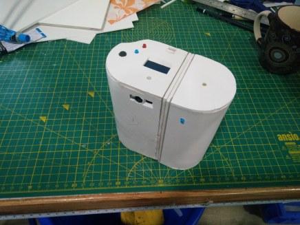 Final iteration. Added screen, laser scanner and better barcode sensor.