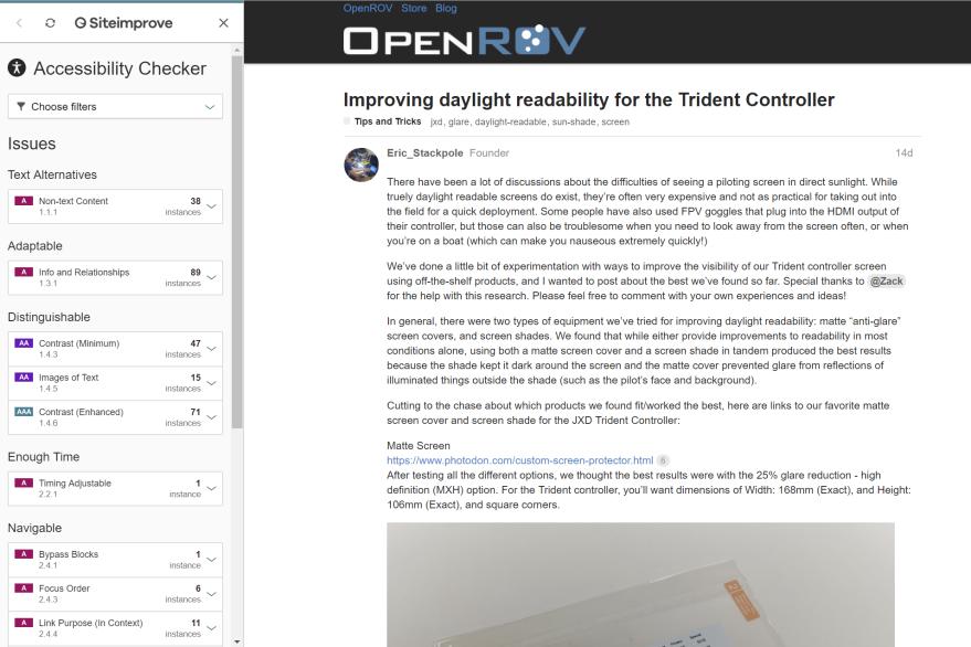 SiteImprove-OpenROV Forum